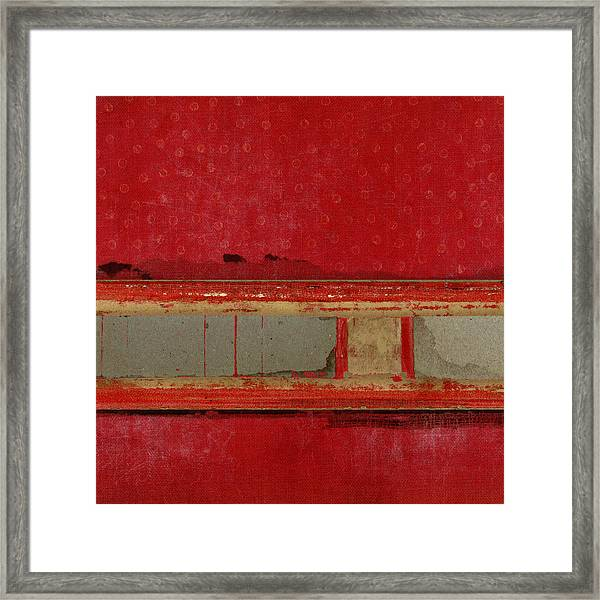 Red Riley Collage Square 1 Framed Print