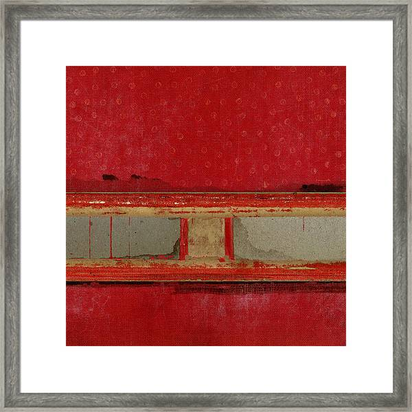 Red Riley Collage Square 2 Framed Print