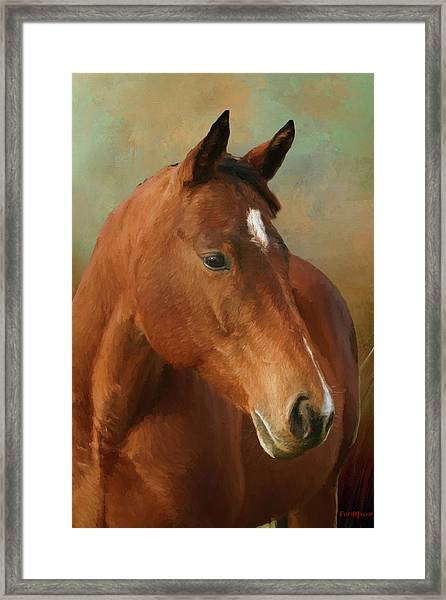 Red River - Painted Framed Print
