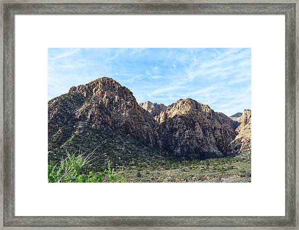 Red Rock Canyon Foothills Framed Print