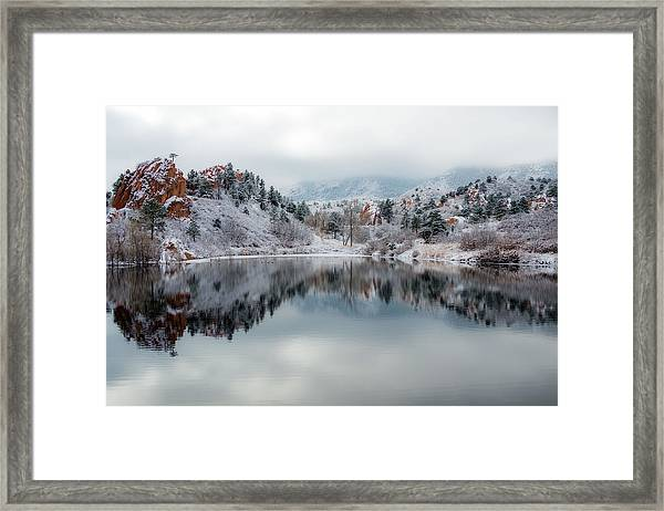 Red Rock Canyon In Winter Framed Print