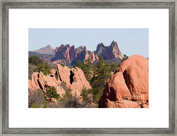 Red Rock Canyon Open Space Park And Garden Of The Gods Framed Print