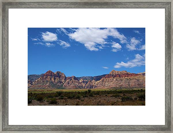Framed Print featuring the photograph Red Rock Caynon2 by Ralph Jones