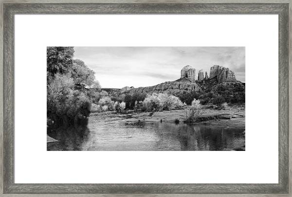 Red Rock Crossing At Cathedral Rock Framed Print