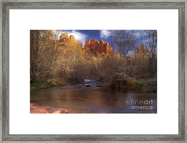 Red Rock Crossing Framed Print