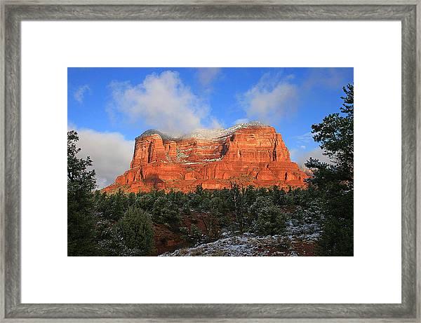 Red Rock Morning Framed Print