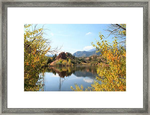 Red Rocks Canyon Open Space Lake #3 - Colorado Framed Print