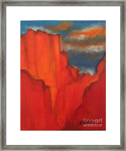 Red Rocks Framed Print
