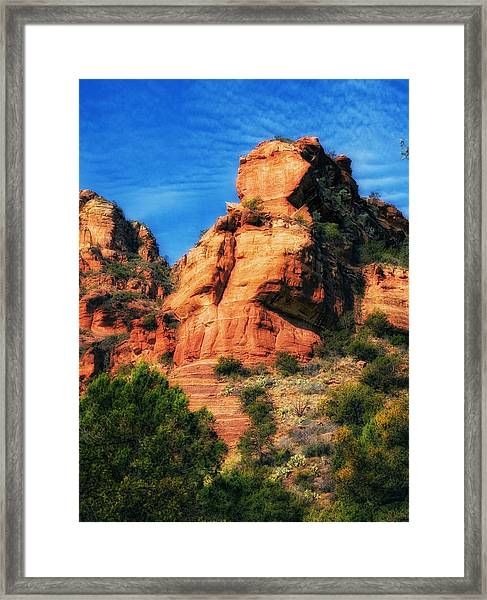 Red Rocks Number 3 In Faye Canyon Framed Print
