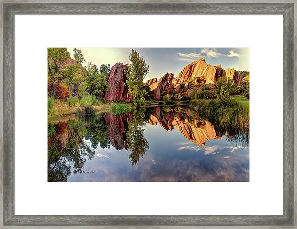 Red Rocks Reflection Framed Print