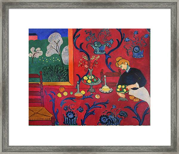 Red Room Framed Print by Henri Matisse