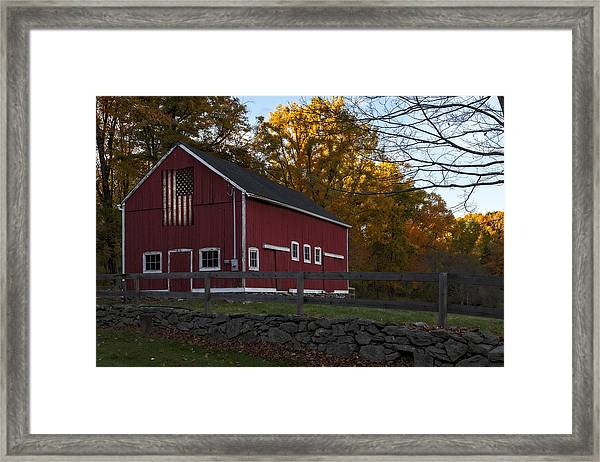 Red Rustic Barn Framed Print