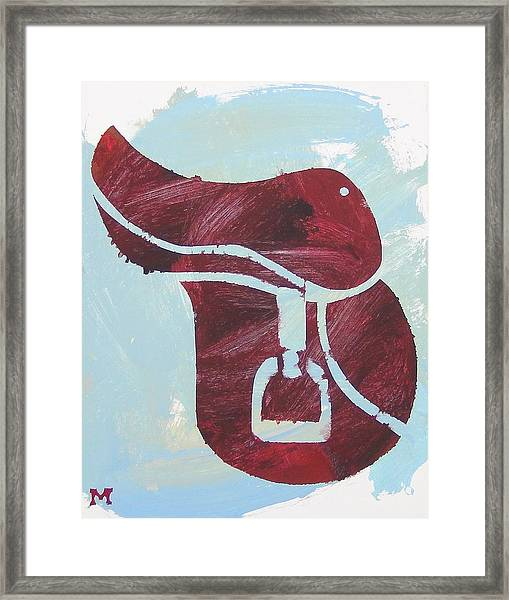 Framed Print featuring the painting Red Saddle by Candace Shrope