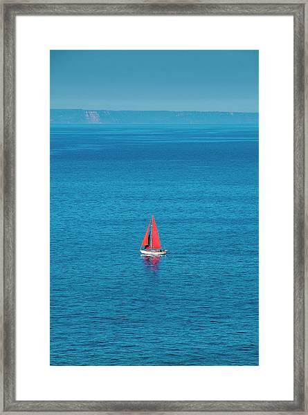 Red Sails Framed Print