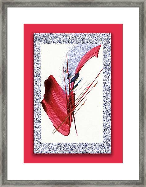 Red Sax Framed Print