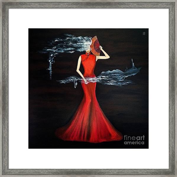 Scented Red Color Framed Print