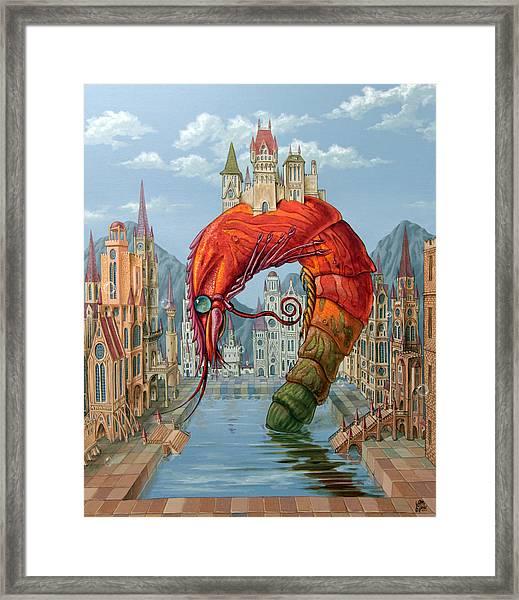 Red Shrimp Framed Print