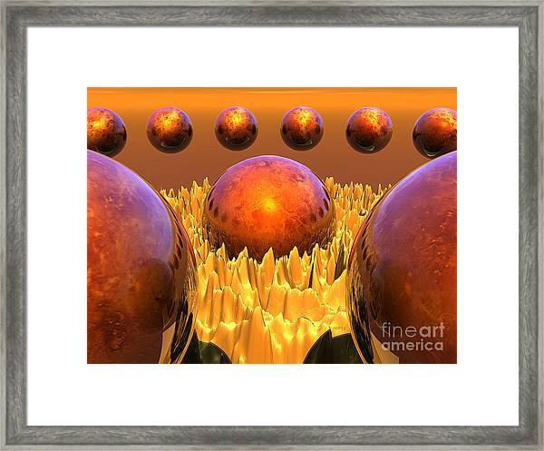 Red Spheres Framed Print