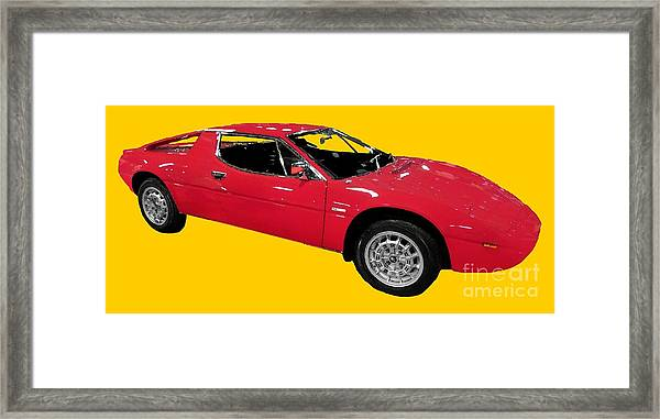 Red Sport Car Art Framed Print
