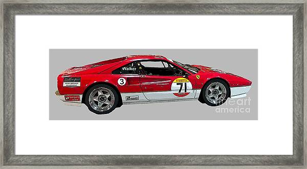 Red Sports Racer Art Framed Print