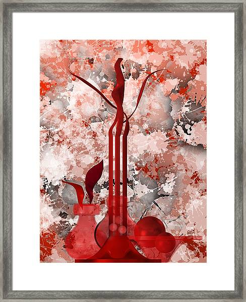 Red Stain Still Life Framed Print