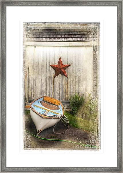 Red Star Boat Framed Print