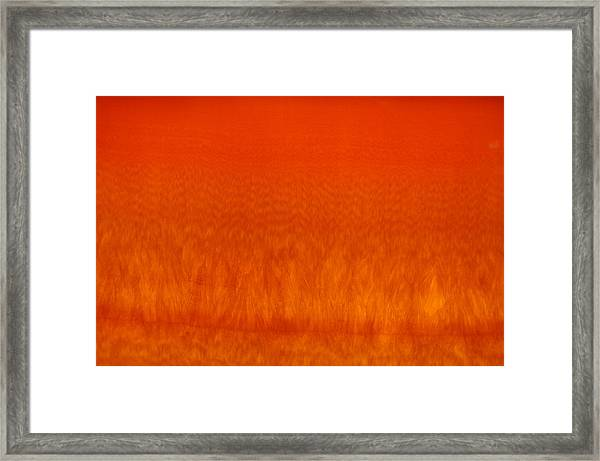 Red Stone 2 Framed Print