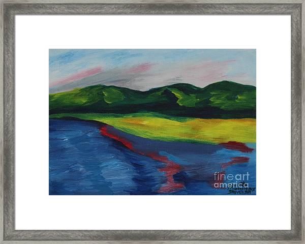 Red Streak Lake Framed Print