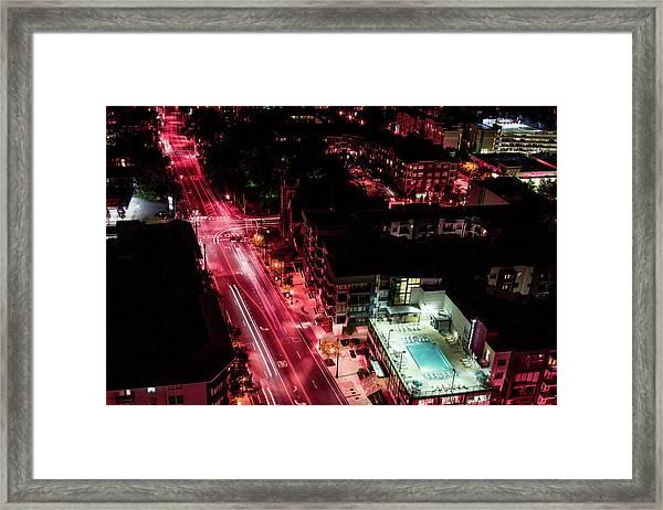 Red Streets Framed Print