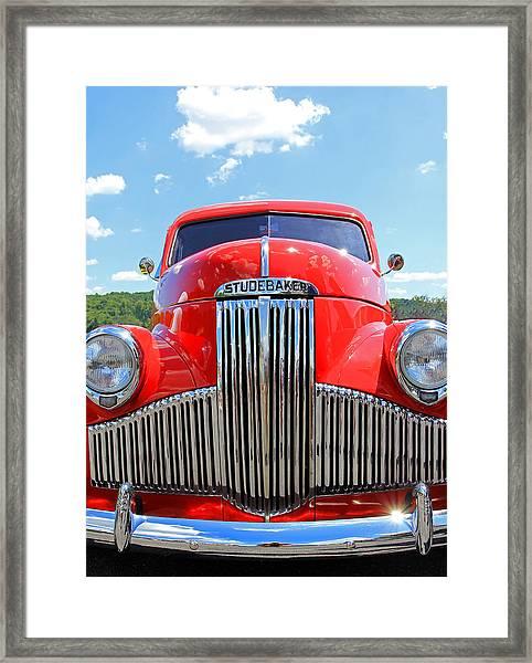 Red Studebaker Framed Print