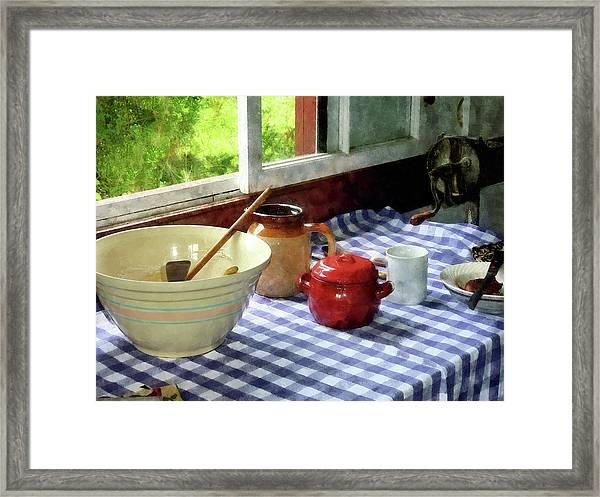 Red Sugar Bowl Framed Print