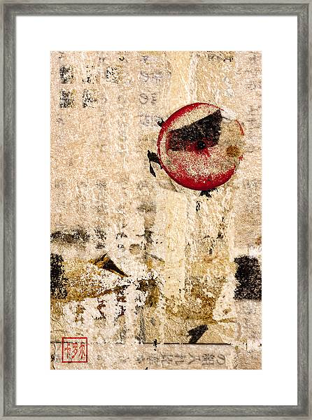 Red Sun Collage Framed Print
