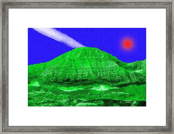 Red Sun White Ray  Framed Print