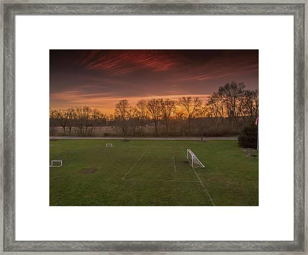 Red Sunset Framed Print