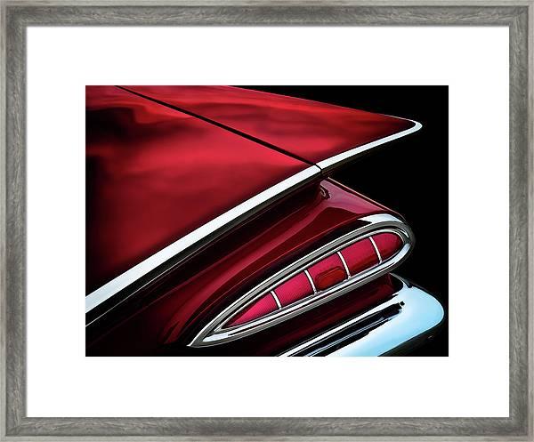 Red Tail Impala Vintage '59 Framed Print