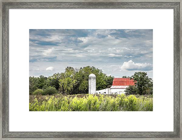 Red Tin Roof Framed Print