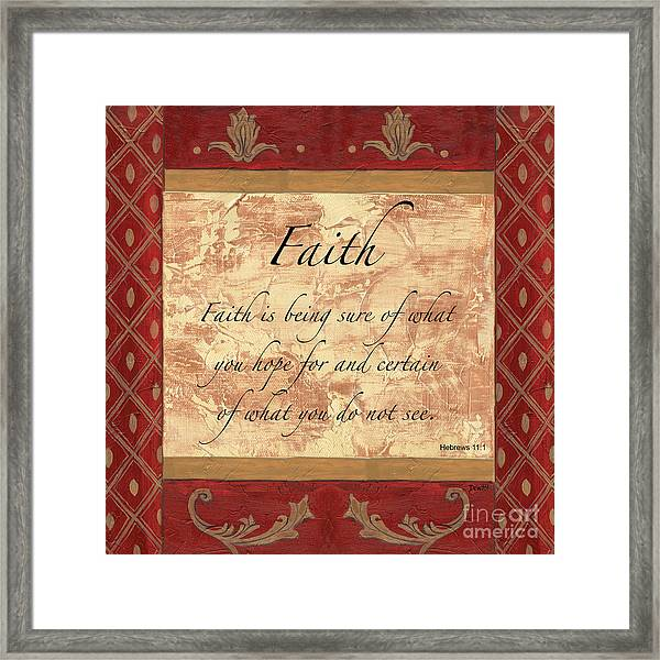 Red Traditional Faith Framed Print