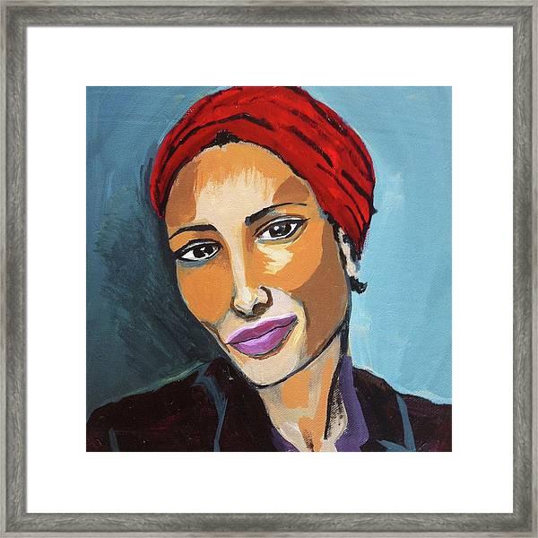 Red Turban Framed Print