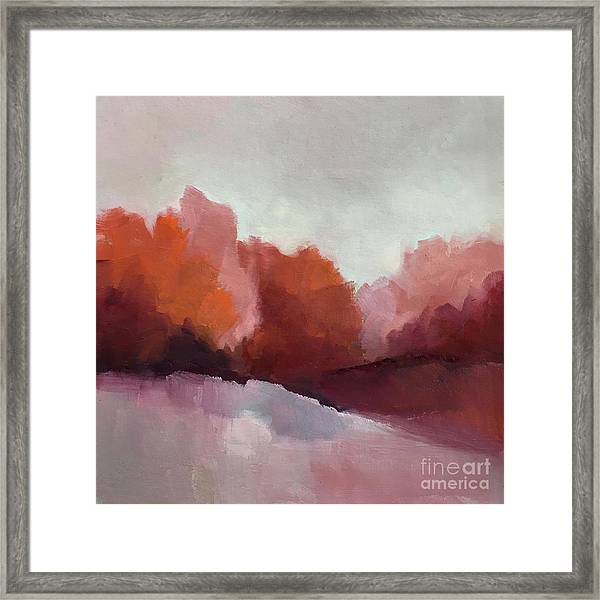Red Valley Framed Print