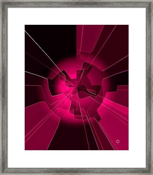 Red Wheels Framed Print