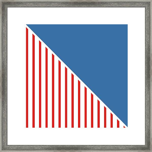 Red White And Blue Triangles Framed Print