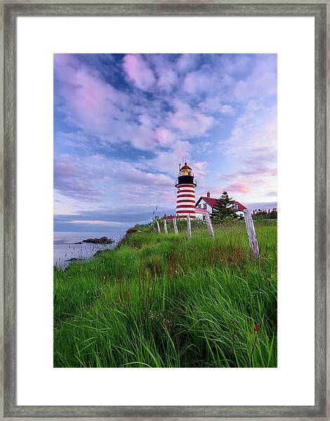 Red, White And Blue - Vertical Framed Print