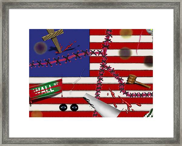 Red White And Bruised IIi Framed Print