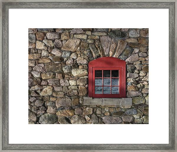 Red Window Framed Print