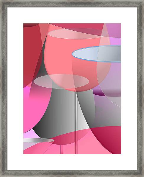 Red Wine Abstract Framed Print