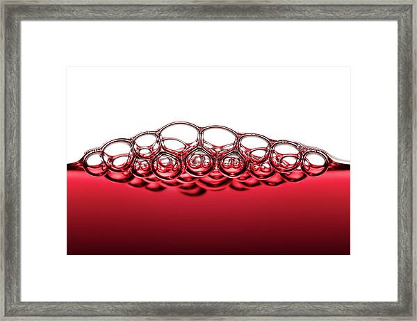 Red Wine Bubbles Framed Print