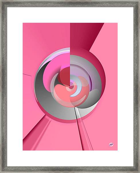 Red Wine Wheels Framed Print