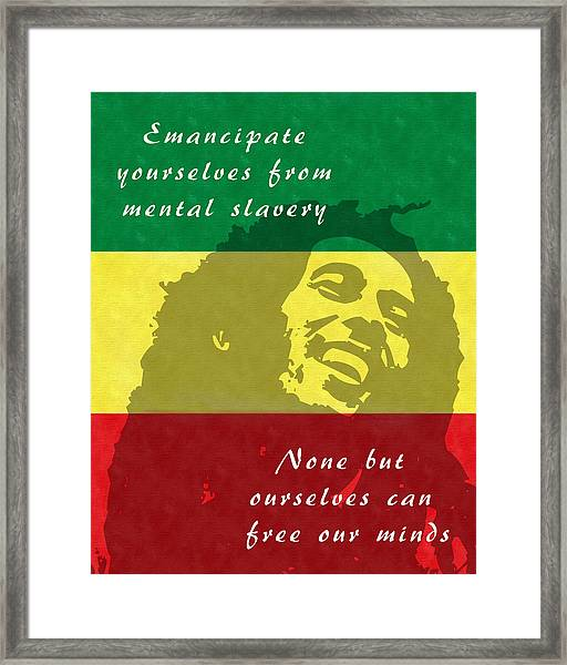 Redemption Song Free Our Minds Framed Print