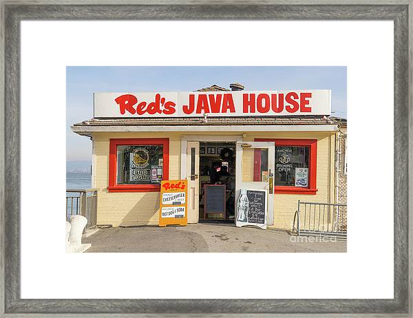 Reds Java House At San Francisco Embarcadero Dsc5759 Framed Print