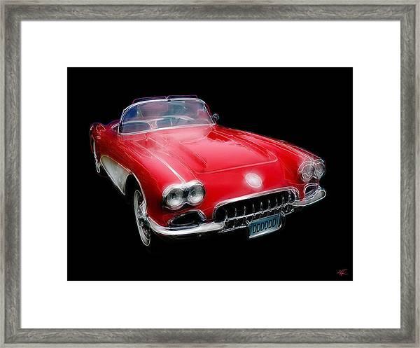 Redvette Framed Print